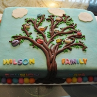 Family Tree Cake!!! This one is one of my favorites... Made this with another Baker for a family reunion that we were apart of.