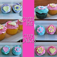 Cutie Pie Cupcakes!!!! I thought this creation of my very own was adorable! <3 :)