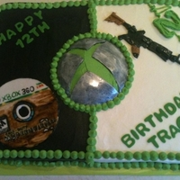 X-Box Cake X-box with game and AK47