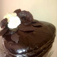 Ferrero Rocher Cake With White And Dark Chocolate Roses