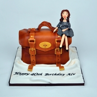 Mulberry Handbag Cake My 2 favorite things, handbags and cake... Loved making this one