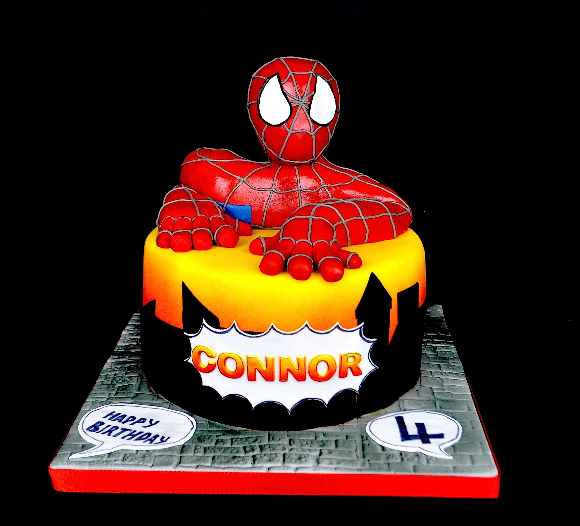 Spiderman Cake I made this cake for my son who was 4 last weekend. he loves spiderman and preceeded to pull his head straight off and eat it. Good job it...