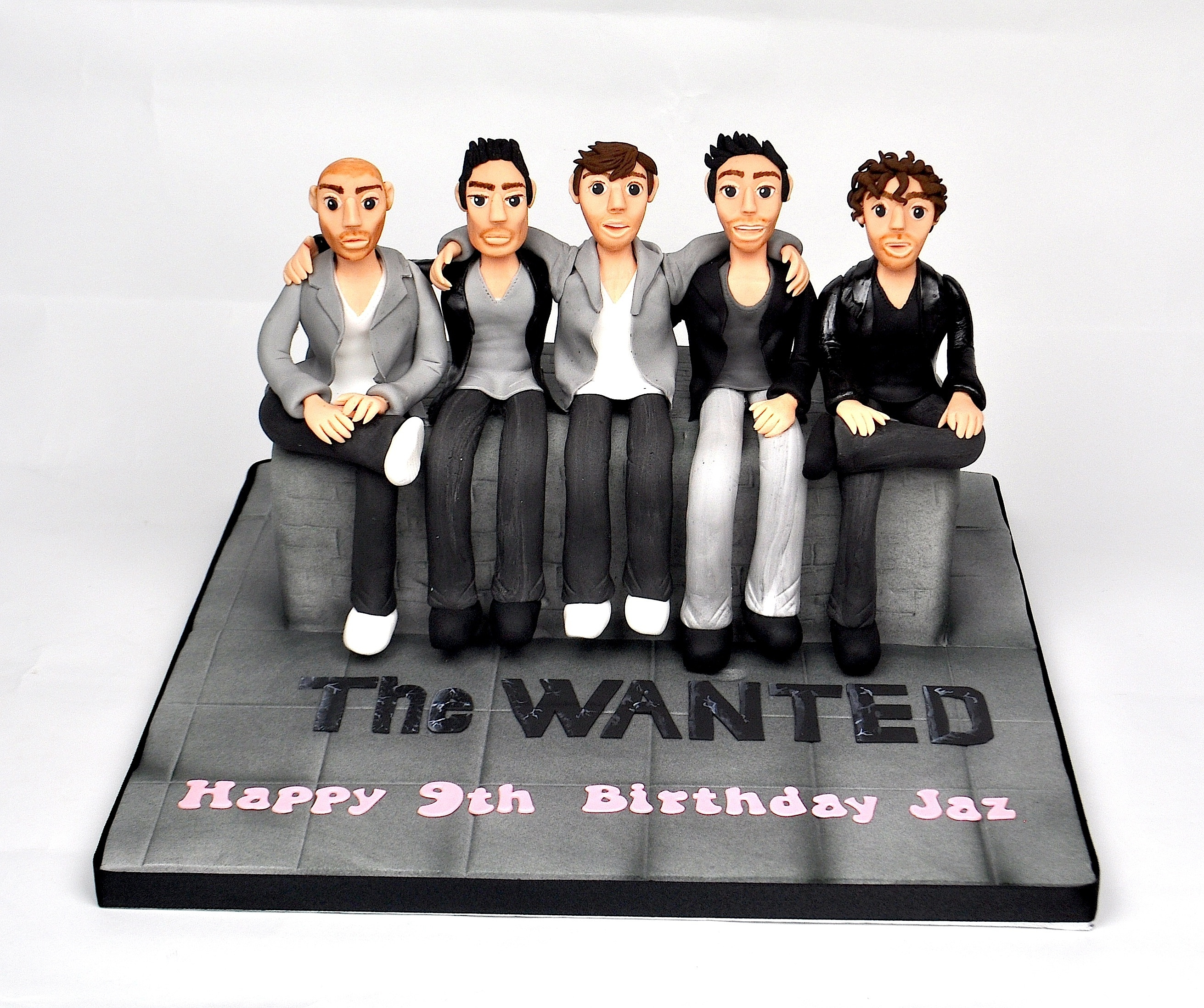 The Wanted Cake this cake was made for a little girl turning 9 who loves the boyband 'The Wanted'.