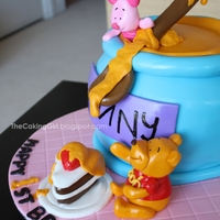 Winnie The Pooh 3D Sculpted Cake!  http://thecakinggirl.blogspot.com/ ,3D sculpted cake,I had free reign on the entire design,those cakes are the best! I loved how this one...