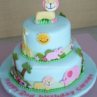 Cute Baby Animal Cake How I made it: http://thecakinggirl.blogspot.ca/2012/05/fondant-decorating-cute-animal-cake.html