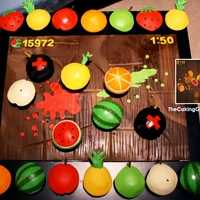 Fruit Ninja Cupcakes! Cupcakes with FRUIT NINJA GAME theme! Here's my tutorial video on how I made it: http://thecakinggirl.blogspot.com/2012/01/fondant-...