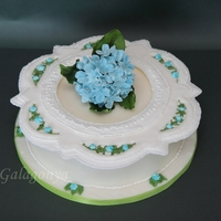 Royal Icing Collar Cake My first royal icing collar cake with sugar paste hydrangea