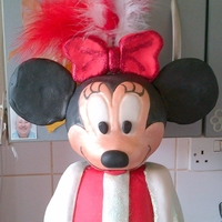 Minnie Mouse Cake 22 inch tall Minnie Mouse cake