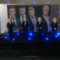 Westlife Cake This is a light up Westlife cake I made for a huge fan!