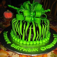 Black & Lime Green Zebra