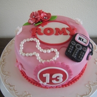 Mobile Cake! For Romy, a mobile phone cake!