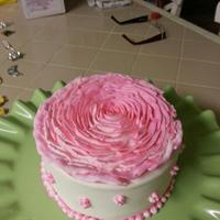 Two Tone Giant Cupcake Rose In Buttercream   *Two tone giant cupcake rose in buttercream