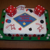 Gamblingcasino 70Th Birthday Cake Almond Cake With American Buttercream Large Dice Almond Cake With Buttercream And Fondant All Decor Gambling/Casino 70th Birthday Cake. Almond Cake with American Buttercream. Large Dice Almond Cake with Buttercream and Fondant. All...