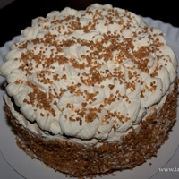 Merinque Cake With Chocolate And Whipped Cream