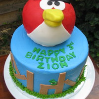Big Red Angry Bird Cake