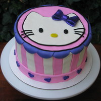 Hello Kitty In Purple Cake!