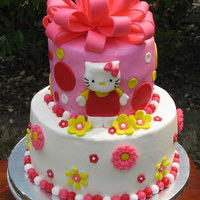 Hello Kitty With A Big Bow Cake!