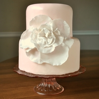 Pale Pink Flower Cake perfect for a bridal shower