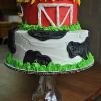 Farm Party This was for a baby's first birthday. They used the top tier as the smash cake!