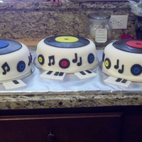 Record Cakes This was for a 50's themed mystery dinner party.