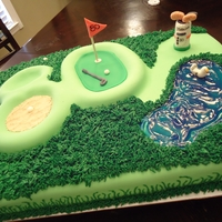80Th Golf Course Cake