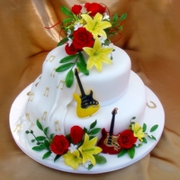 Guitar Wedding Cake