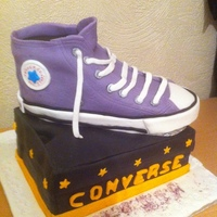 Converse Shoe Birthday Cake   converse shoe birthday cake