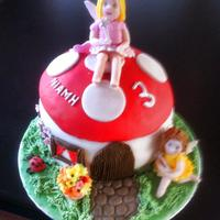 Toadstool And Fairies Birthday Cake   toadstool and fairies birthday cake