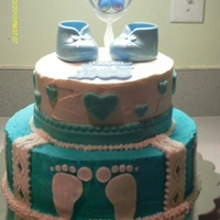 Blue Baby Shower Cake.