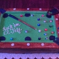 Pool Table Birthday Cake.