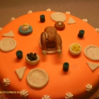 Thanksgiving Cake. Topped with MMF decorations.