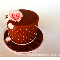 Pink Rose Petal Chocolate Cake