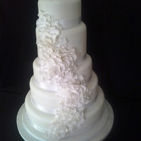 5 Tier Stacked Wedding Cake