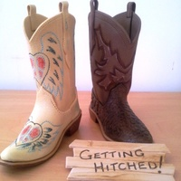 Gum Paste Cowboy Boots. His and Hers cowboy boots. Copied from original boots.