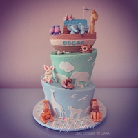 Noah's Arc Cake Noah's arc was created for a christening. The cake is in 3 flavours with lots of decorative animals and flowers. The cake is based on...