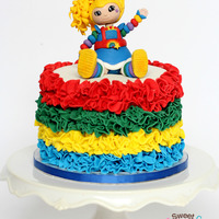 "Rainbow Brite Cake Rainbow Brite Was Made From Satin Ice Fondant With Tylose Added She Is Sitting On A 6 Cake That Was Covered In Mmf Cove... Rainbow Brite CakeRainbow Brite was made from Satin Ice fondant with tylose added. she is sitting on a 6"" cake that was covered in MMF..."