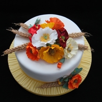 Summer Cake With Iceland Poppy's And Wheat   I made this cake for the Dutch magazine Mjam June 2013