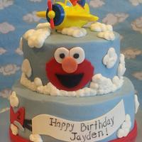 Elmo And Airplanes Cake *