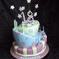 18Th Birthday Topsy Turvey Cake
