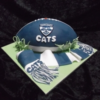 Gelong Foot Ball Cake   hand painted