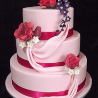 Pink Wedding Cake gum paste flowers