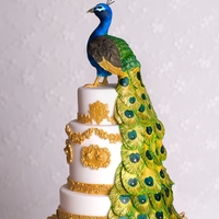 Peacock Cake   Cover of Cake Central Magazine Volume 3 Issue 4 http://shop.cakecentral.com/products/cake-central-magazine-volume-3-issue-4-pdf