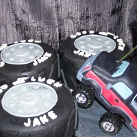 Truck Cake Truck is a RC car that I covered in rice crispie treats and fondant it really worked.