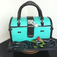 Handbag Cake   1st attempt at a handbag the cake is chocolate everything else is fondant