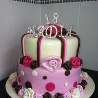 18 Th Birthdy Cake   chocolate cake with fondant decoration and non edible bling
