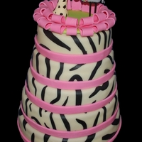 Zebra Wedding Cake For Two Ladies Who Met On A Safari A Few Years Ago The Topper Was Made According To Their Invitation Which Was Designed... Zebra wedding cake for two ladies who met on a safari a few years ago. The topper was made according to their invitation which was designed...