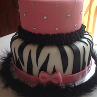 Cake With Zebra Prints