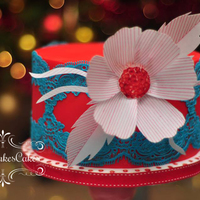 Simply Mary I used TIFFANY cake lace by Claire Bowman and my fave wafer paper for the flower.