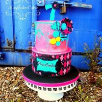 Monster High Themed Cake A Monster High themed birthday cake. I used cake lace for the the top tier and edible prints for the bottom tier.