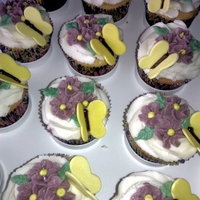 Butterfly Cupcakes Not my greatest floral effort; it was too hot and humid when I made these and I was struggling with the icing texture. But anyway,...
